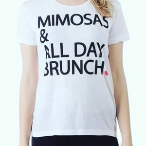 Chaser White Mimosa and Brunch Short Sleeve Tee